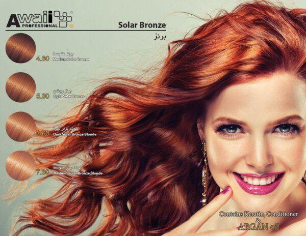 کاتالوگ رنگ مو آوائی برنز