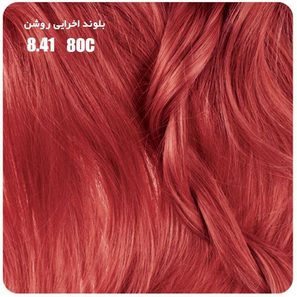 رنگ موی بیول بلوند اخرایی روشن 8.41