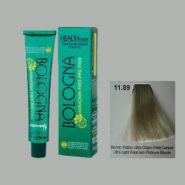 رنگ مو بدون آمونیاک بلونیا بلوند پلاتینه خاکستری مرواریدی خیلی روشن شماره 11.89