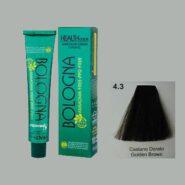 رنگ مو بدون آمونیاک بلونیا قهوه ای طلایی شماره 4.3