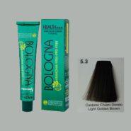 رنگ مو بدون آمونیاک بلونیا قهوه ای طلایی روشن شماره 5.3
