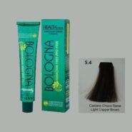 رنگ مو بدون آمونیاک بلونیا قهوه ای مسی روشن شماره 5.4