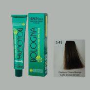 رنگ مو بدون آمونیاک بلونیا قهوه ای برنز روشن شماره 5.43