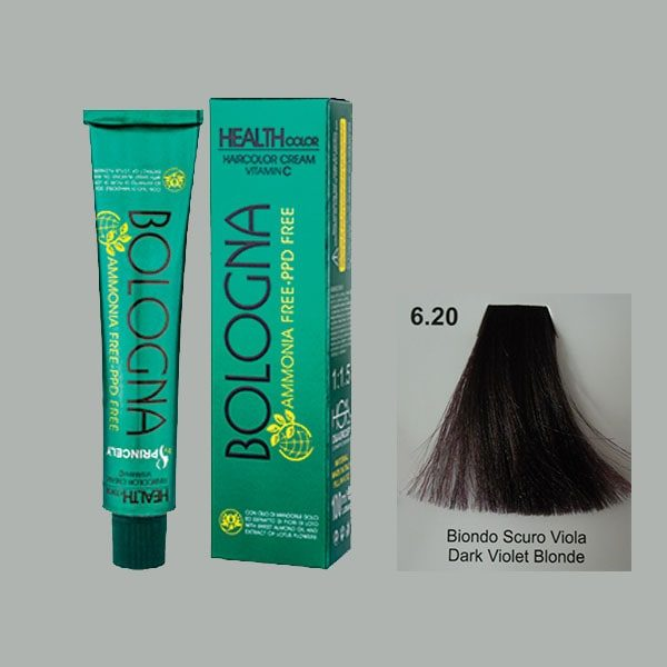 رنگ مو بدون آمونیاک بلونیا بلوند بادمجانی تیره شماره 6.20