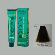 رنگ مو بدون آمونیاک بلونیا بلوند قهوه ای تیره شماره 6.7