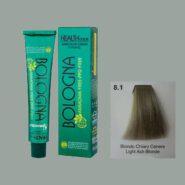 رنگ مو بدون آمونیاک بلونیا بلوند خاکستری روشن شماره 8.1