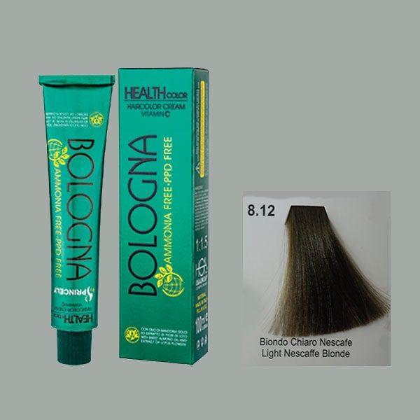 رنگ مو بدون آمونیاک بلونیا بلوند نسکافه ای روشن شماره 8.12