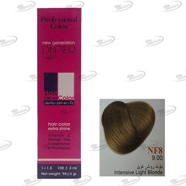 رنگ مو دوپیر بلوند روشن قوی سری طبیعی قوی