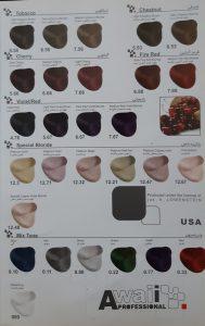 رنگ مو آوایی کاتالوگ