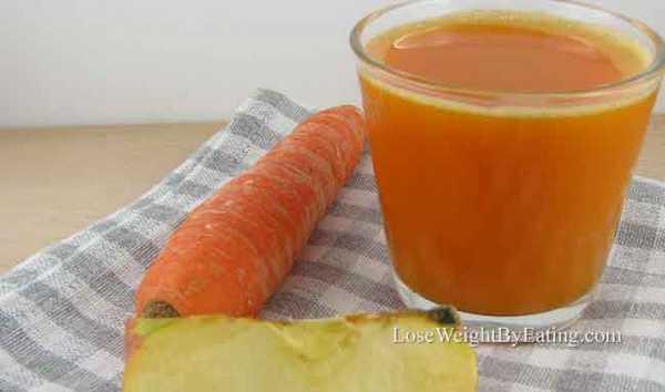 دتوکس لاغری هویج و سیب