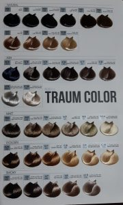 کاتالوگ رنگ مو ترام کالر 2