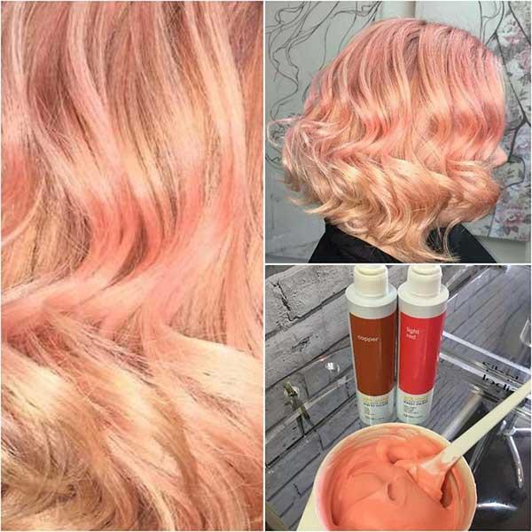 پیگمن رنگی مو قهوه ای و قرمز