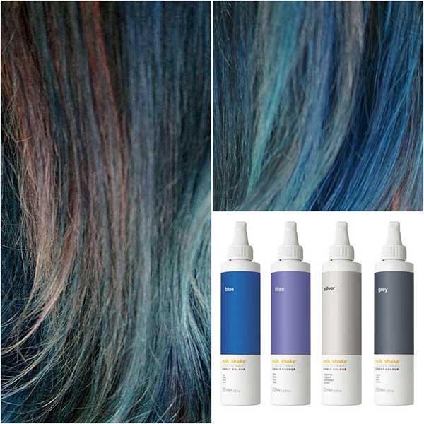 پیگمنت رنگ مو آبی و خاکستری و سیلور