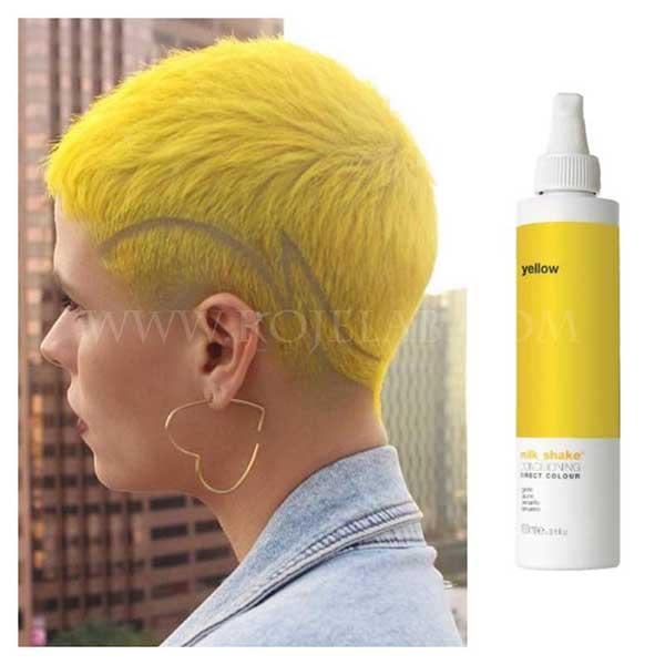 پیگمنت رنگ مو زرد میلک شیک